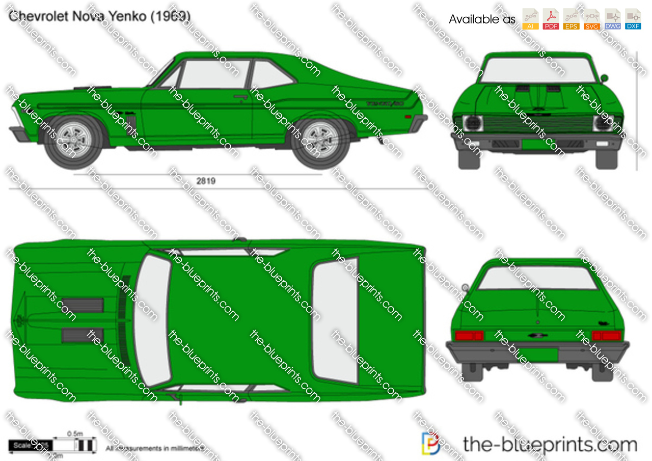 The Blueprints Com Vector Drawing Chevrolet Nova Yenko