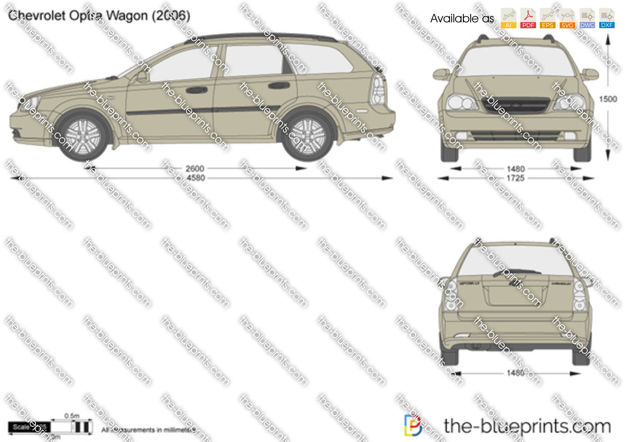 chevrolet optra wagon vector drawing