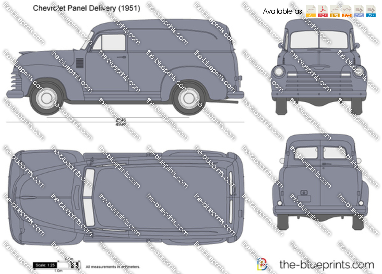 Chevrolet Panel Delivery Vector Drawing