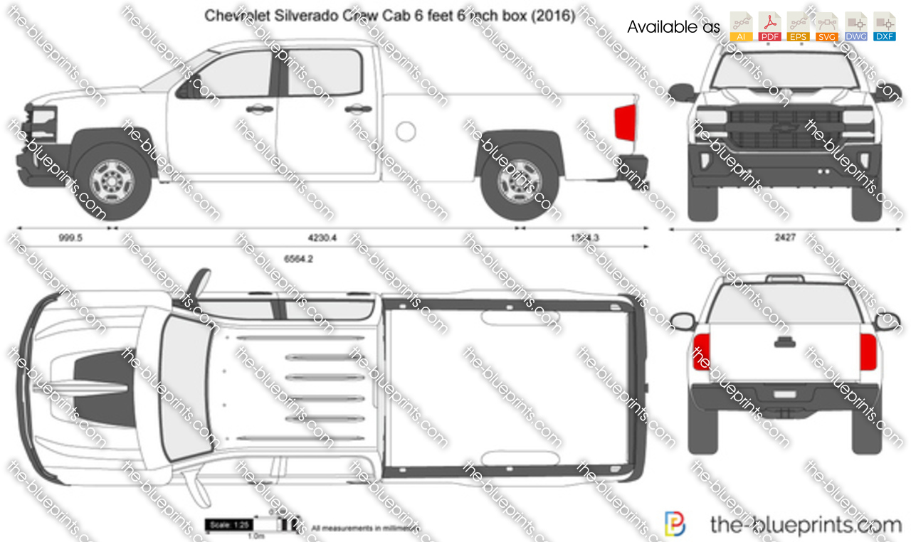 Chevrolet Silverado Crew Cab 6 feet 6 inch box 2018