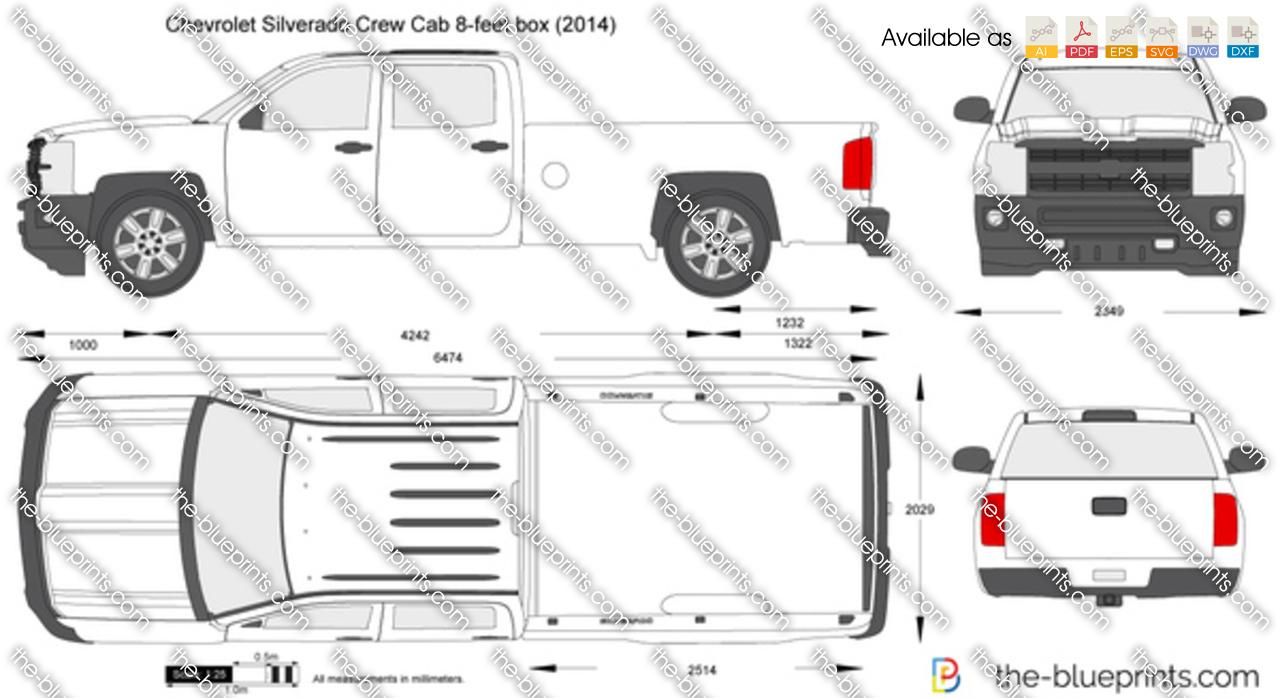 Chevrolet Silverado Crew Cab 8-feet box 2014
