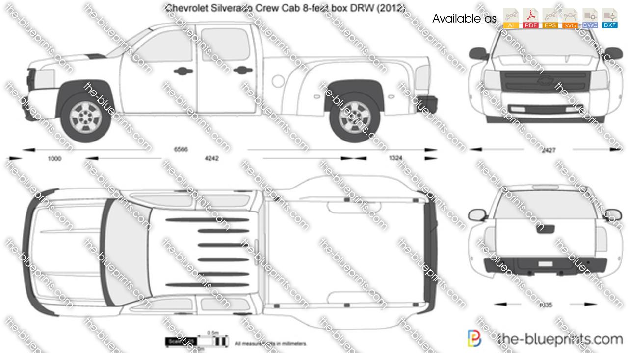 Chevrolet Silverado Crew Cab 8-feet box DRW 2011