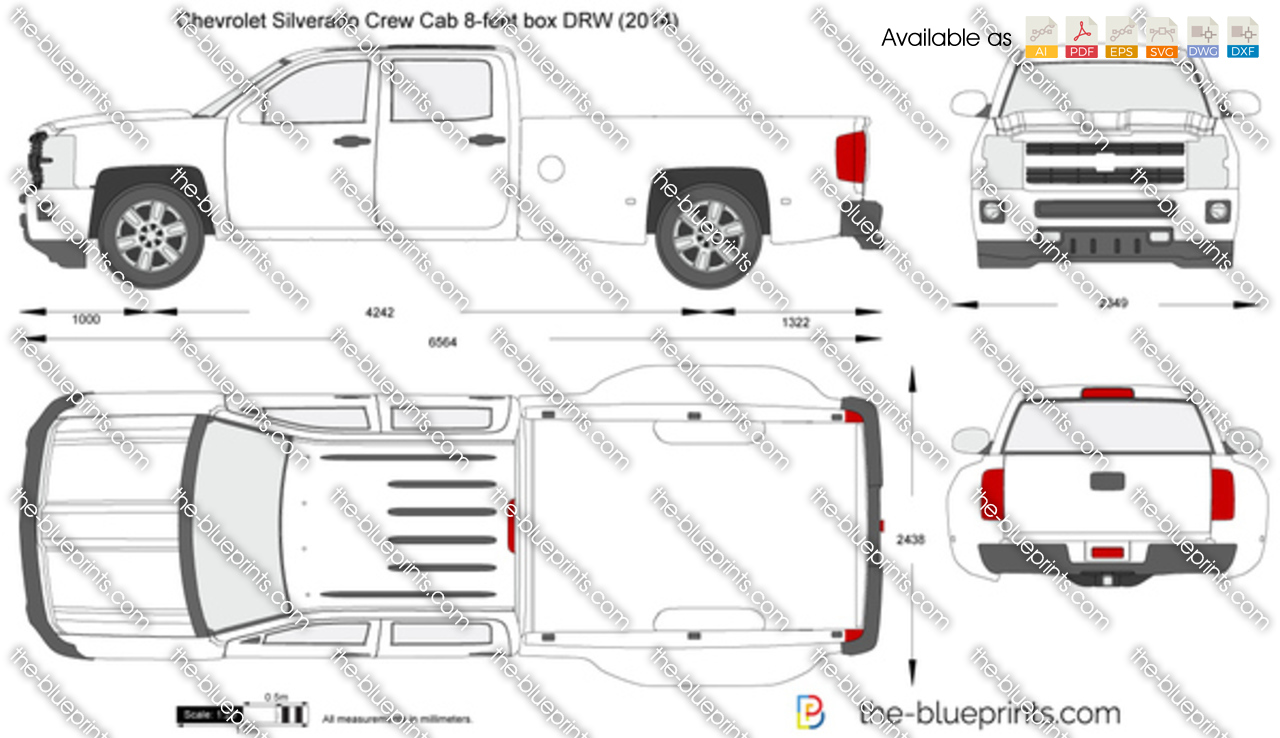 Chevrolet Silverado Crew Cab 8-feet box DRW 2014
