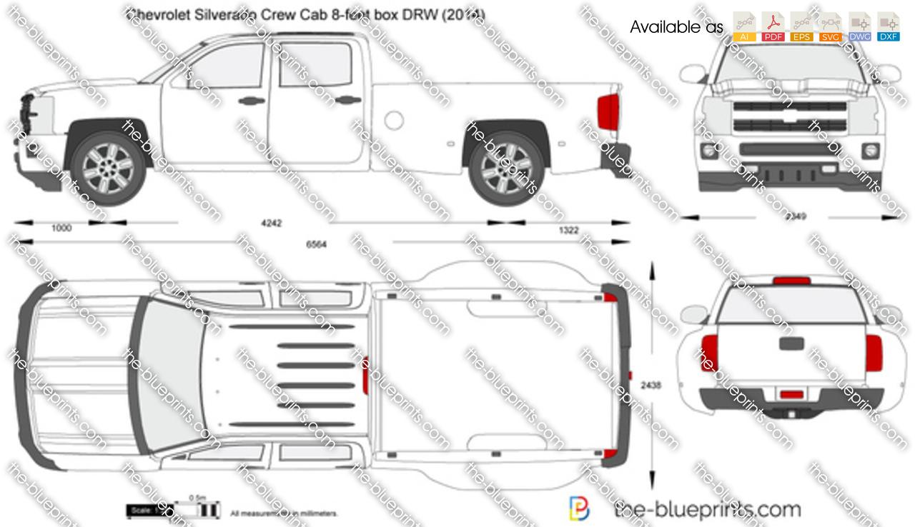 Chevrolet Silverado Crew Cab 8-feet box DRW 2016