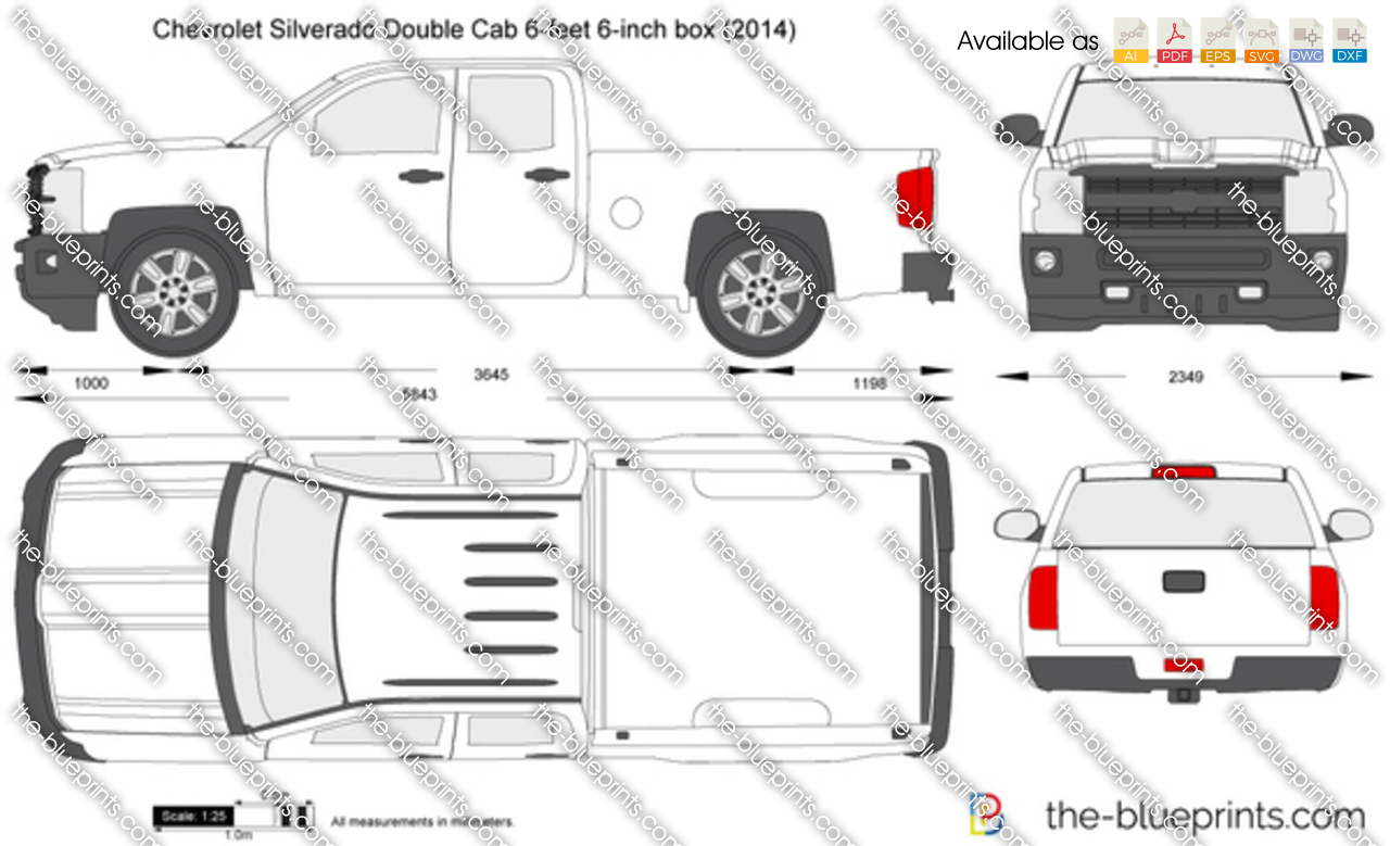 2014 Chevrolet Silverado Double Cab 6-feet 6-inch box