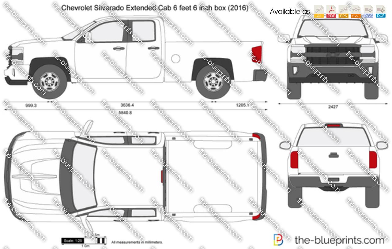 Chevrolet Silverado Extended Cab 6 feet 6 inch box 2017