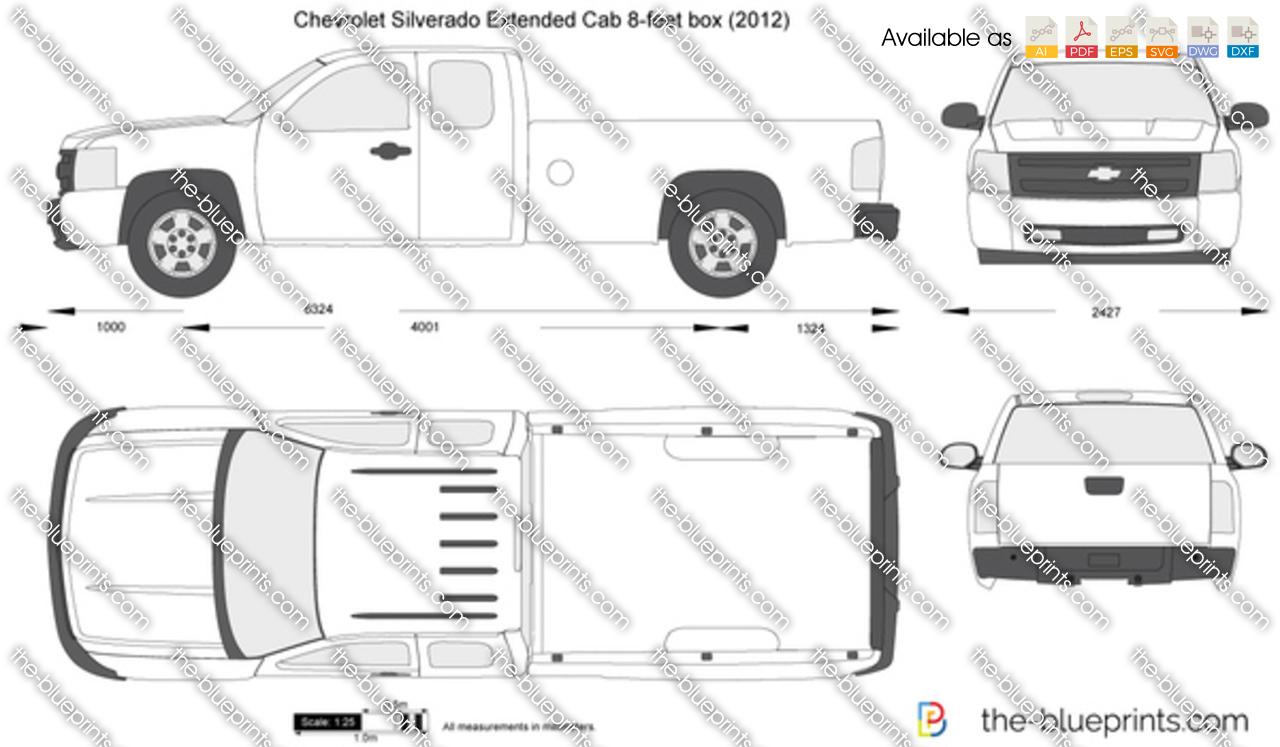 Chevrolet Silverado Extended Cab 8-feet box 2011
