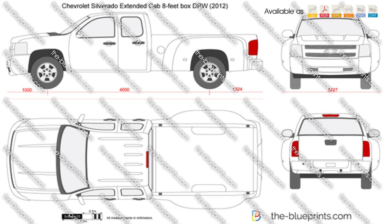 Chevrolet Silverado Extended Cab 8-feet box DRW 2011