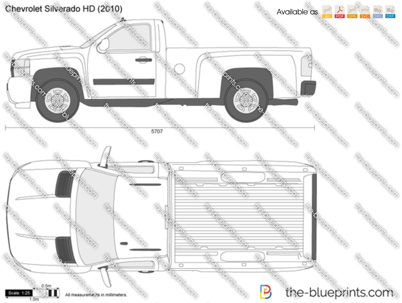 chevrolet silverado hd vector drawing