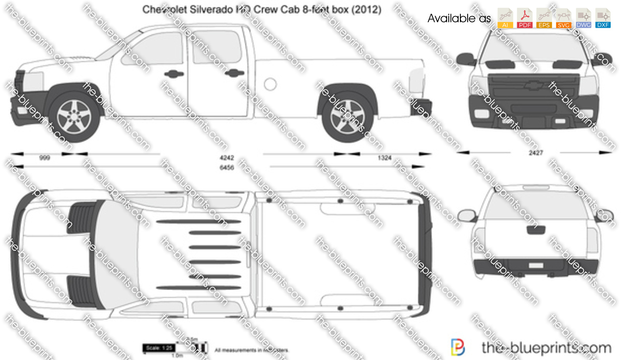 Chevrolet Silverado HD Crew Cab 8-feet box 2014