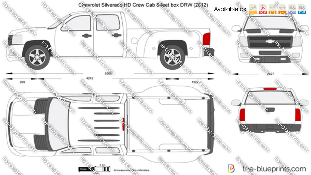 Chevrolet Silverado HD Crew Cab 8-feet box DRW 2013
