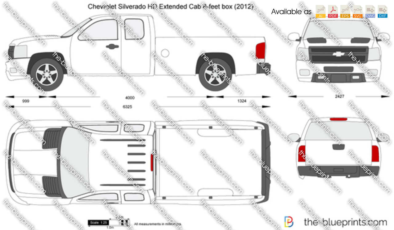 Chevrolet Silverado HD Extended Cab 8-feet box 2010