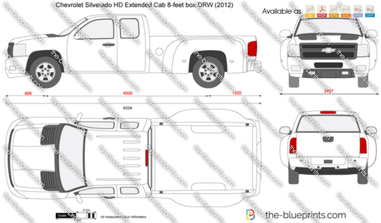 Chevrolet Silverado HD Extended Cab 8-feet box DRW 2013