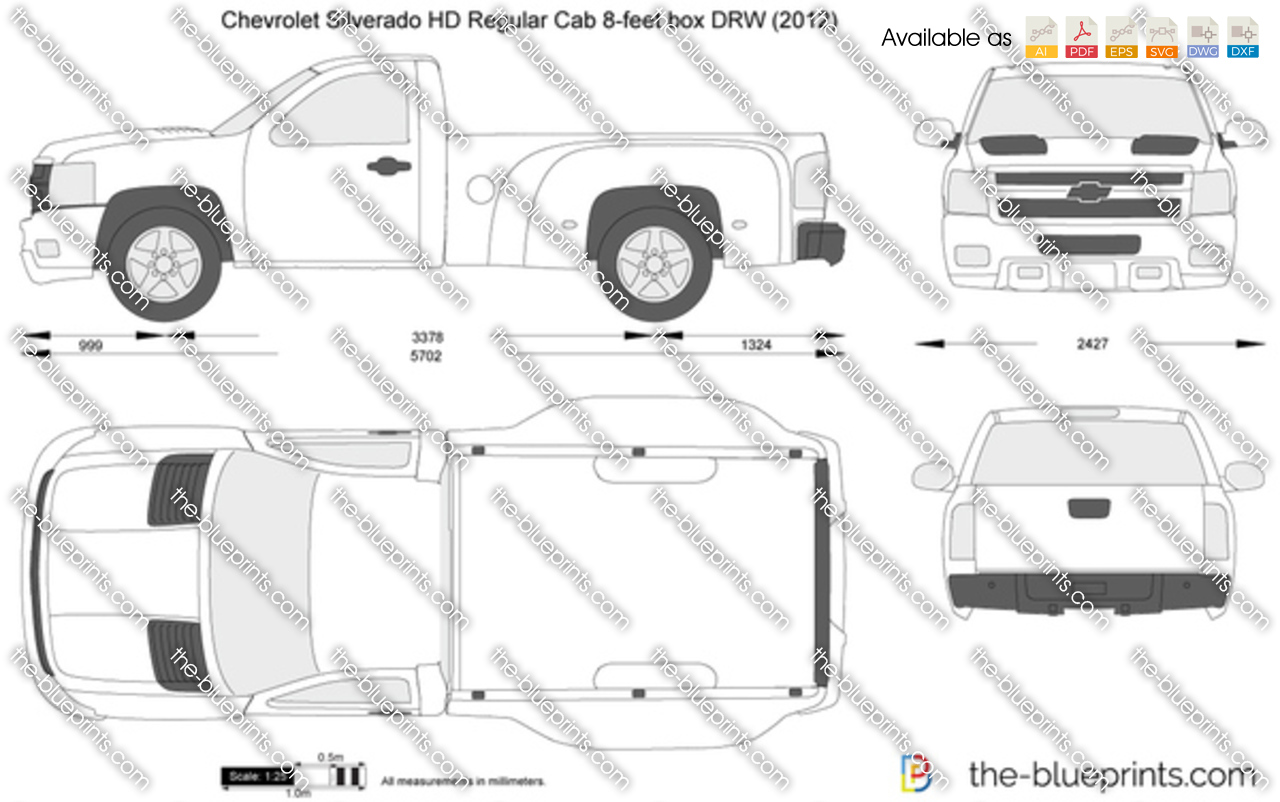 Chevrolet Silverado HD Regular Cab 8-feet box DRW 2013