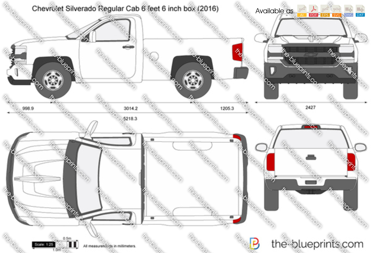 Chevrolet Silverado Regular Cab 6 feet 6 inch box 2017