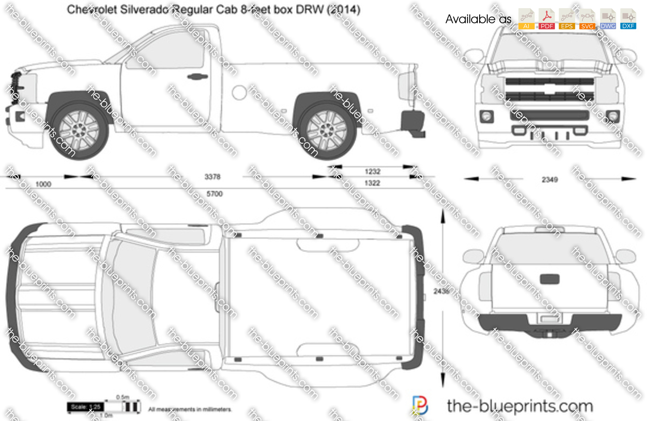 Chevrolet Silverado Regular Cab 8-feet box DRW 2015