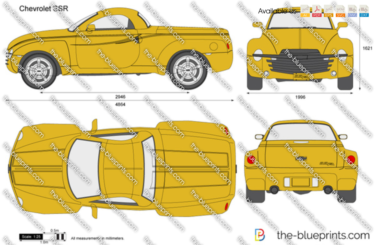 chevrolet ssr vector drawing