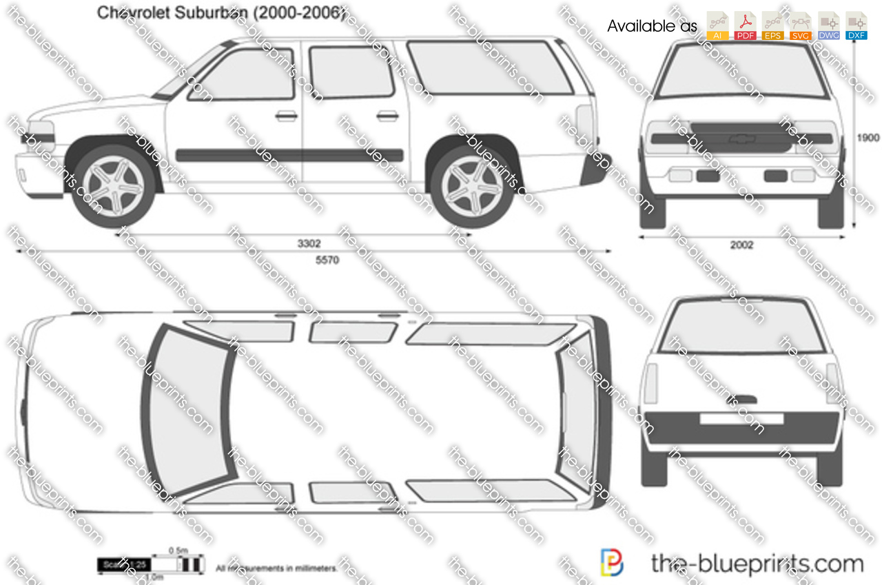 Chevrolet Suburban Vector Drawing