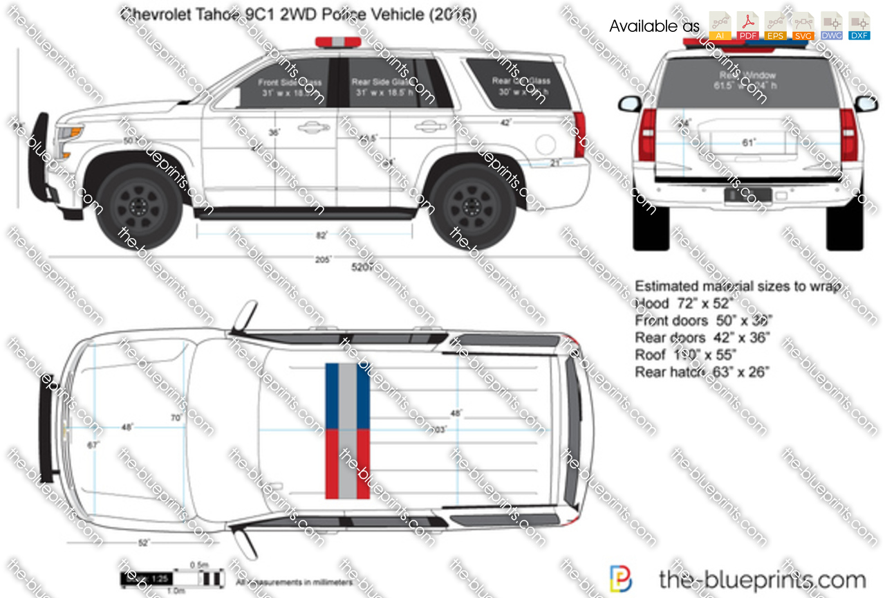 Chevrolet Tahoe 9C1 2WD Police Vehicle 2017