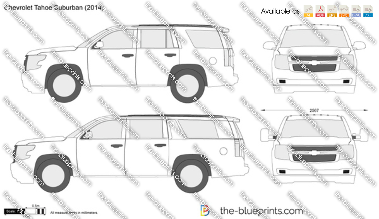 chevrolet tahoe suburban vector drawing