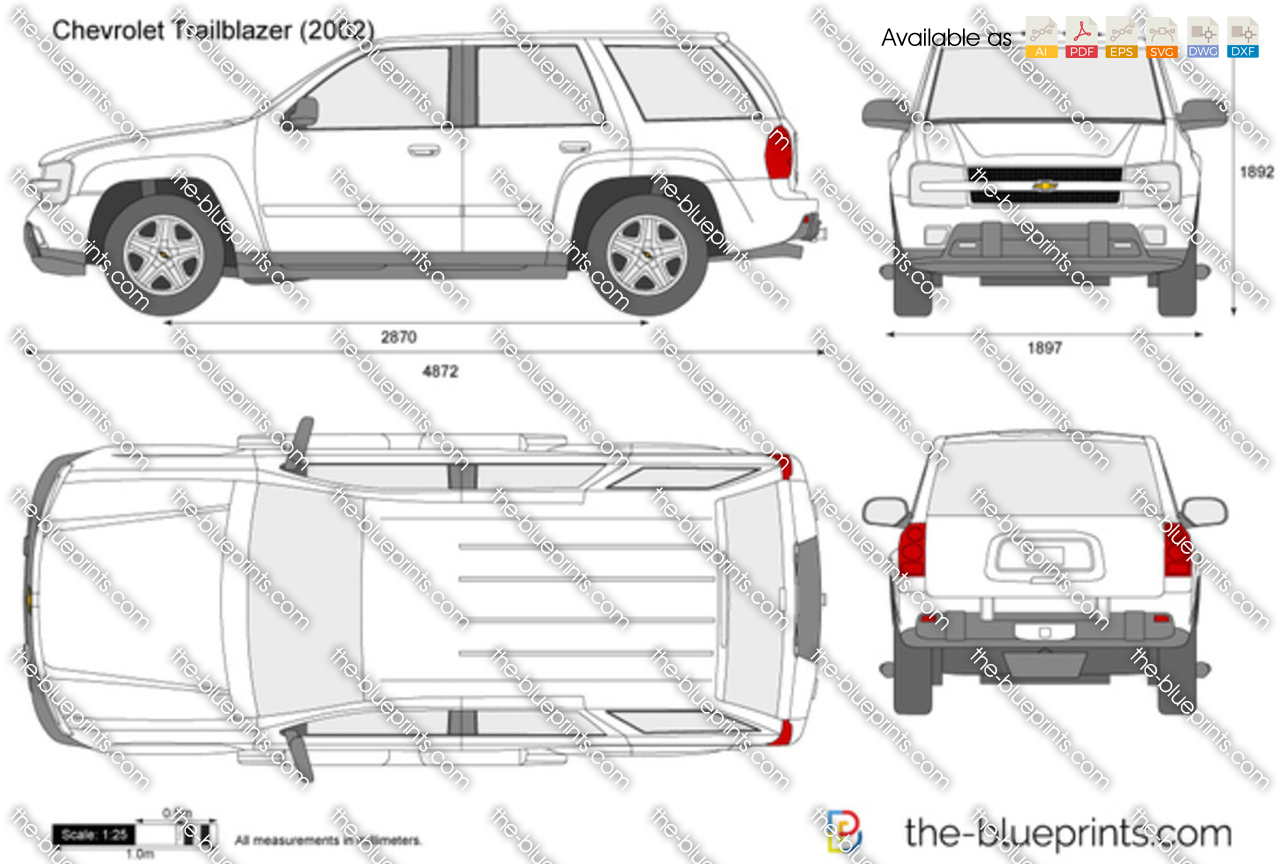 Chevrolet Trailblazer Vector Drawing