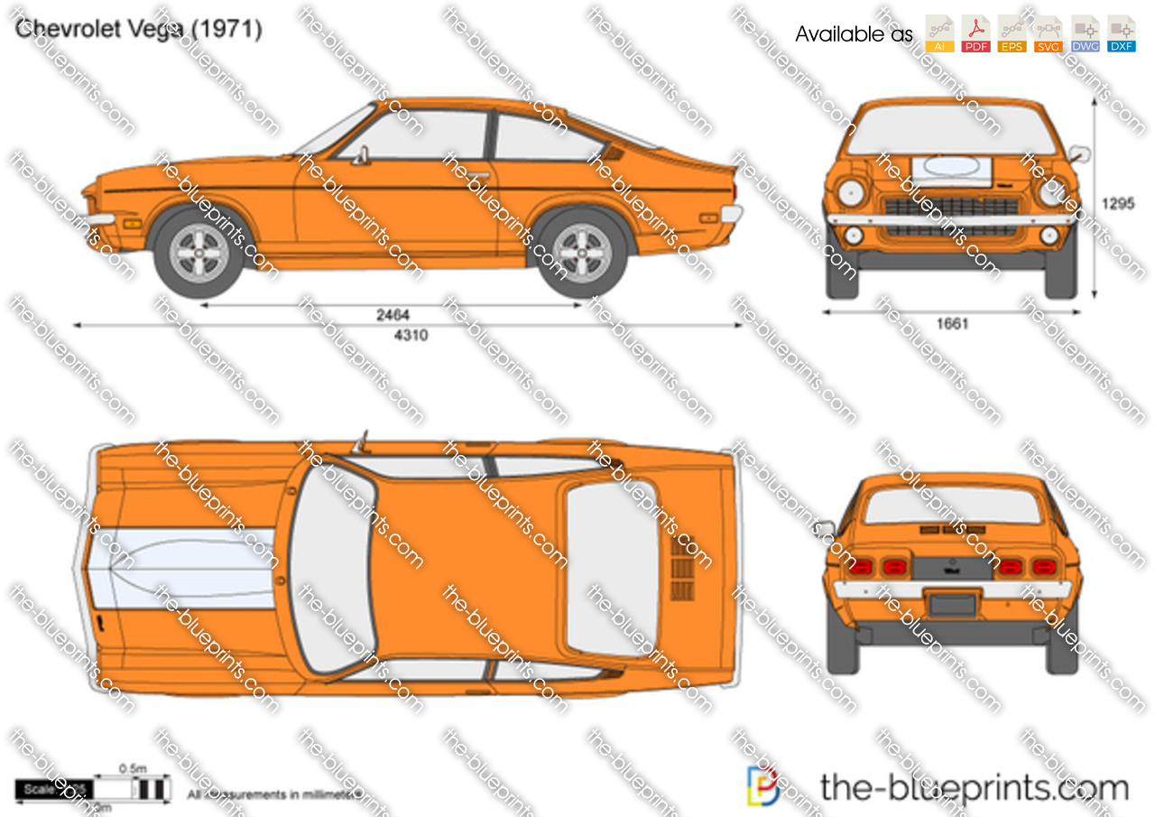 Chevrolet Vega Vector Drawing