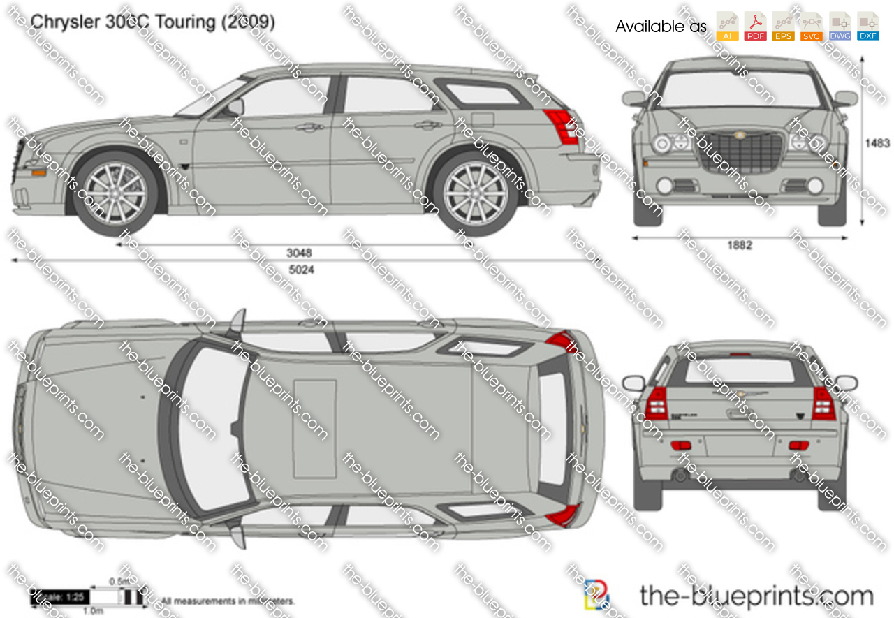 Chrysler 300c Touring Vector Drawing