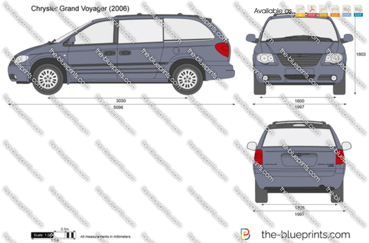 2014 Cadillac Cts For Sale >> Chrysler Grand Voyager vector drawing