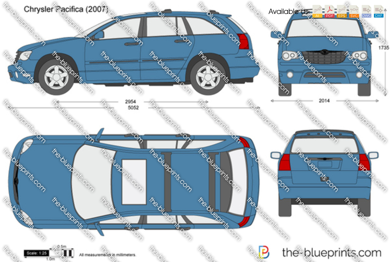 Chrysler Pacifica Vector Drawing
