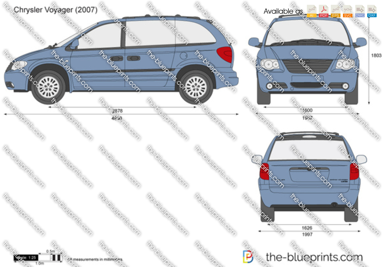 The Blueprints Com Vector Drawing Chrysler Voyager