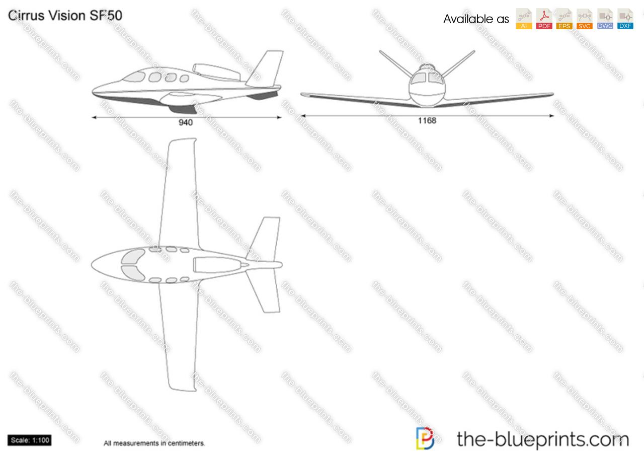 The Vector Drawing Cirrus Vision Sf50