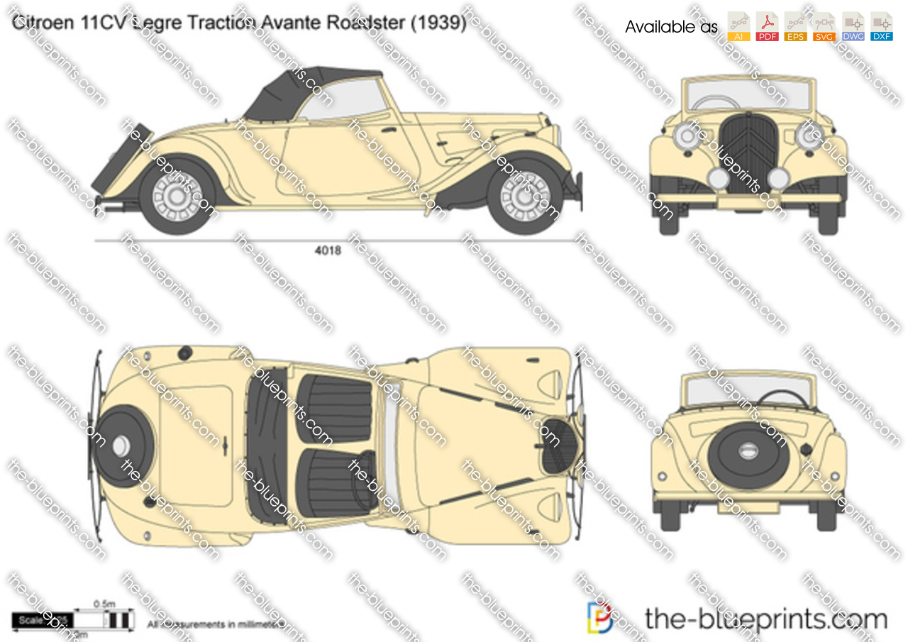 Citroen 11CV Legre Traction Avante Roadster