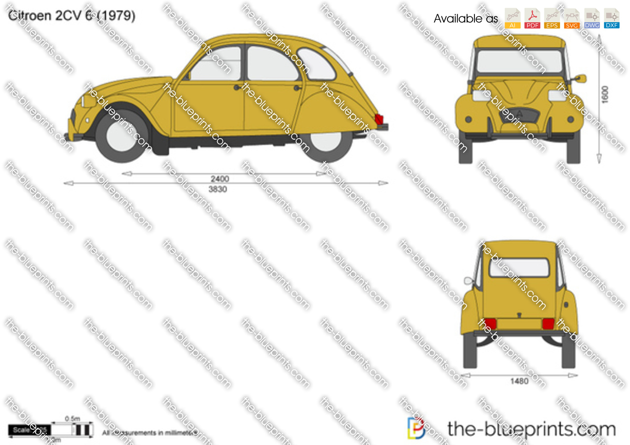Citroen 2cv 6 Vector Drawing Renault Clio Fuse Box Diagram 1999
