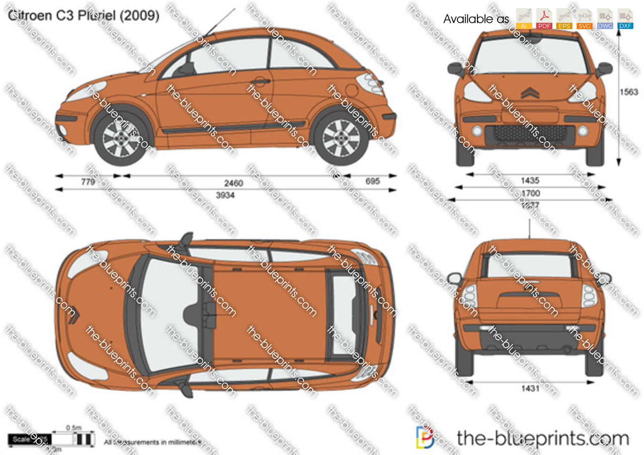the vector drawing citroen c3 pluriel. Black Bedroom Furniture Sets. Home Design Ideas