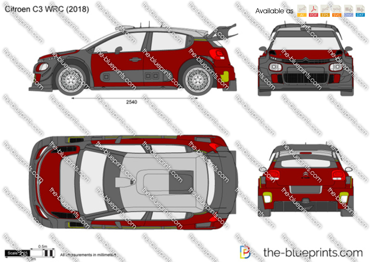 citroen c3 wrc vector drawing. Black Bedroom Furniture Sets. Home Design Ideas