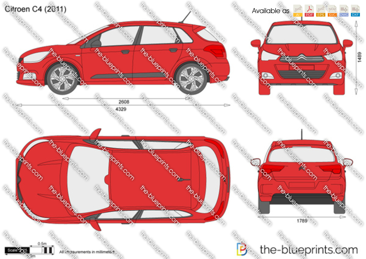 citroen c4 vector drawing. Black Bedroom Furniture Sets. Home Design Ideas
