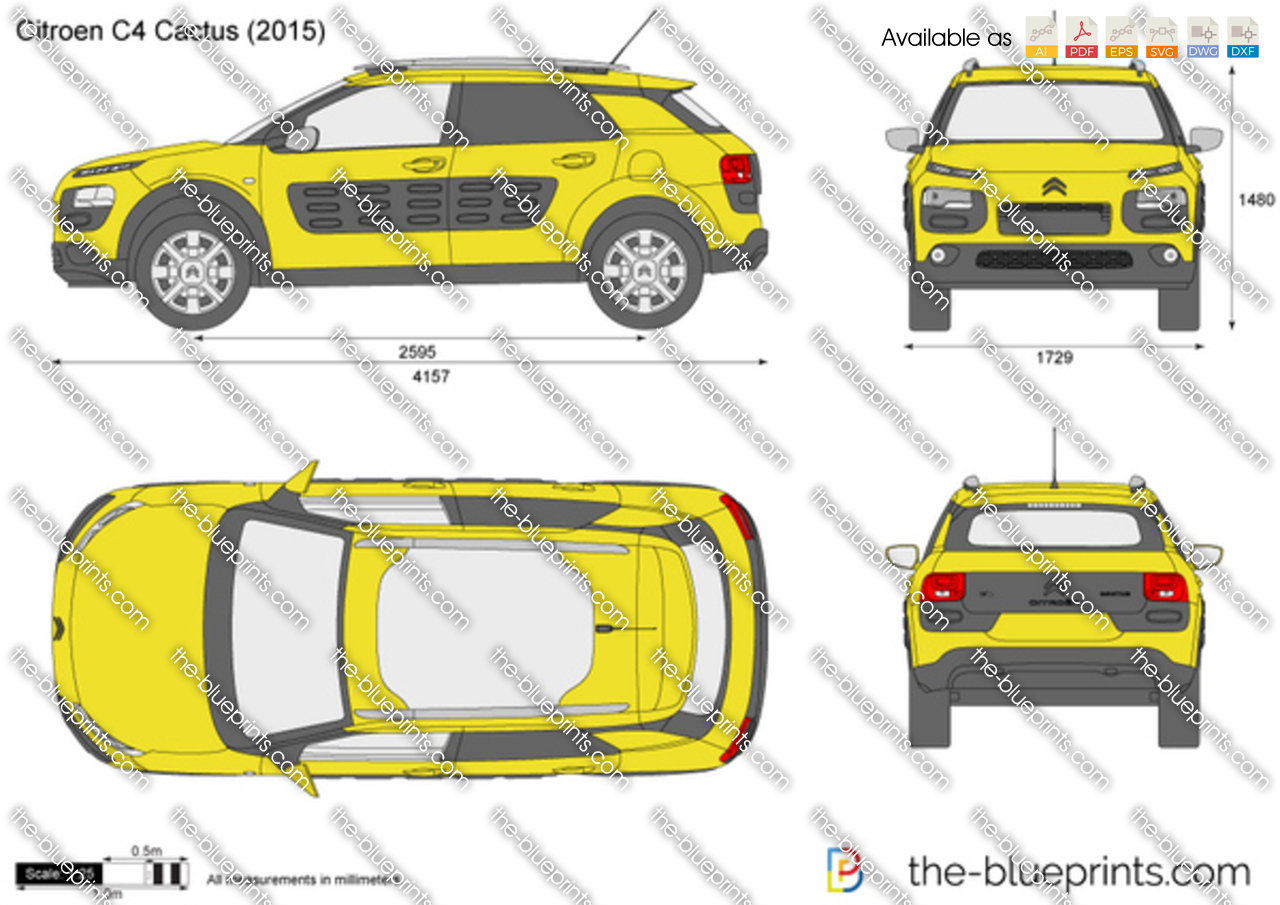 citroen c4 cactus vector drawing. Black Bedroom Furniture Sets. Home Design Ideas