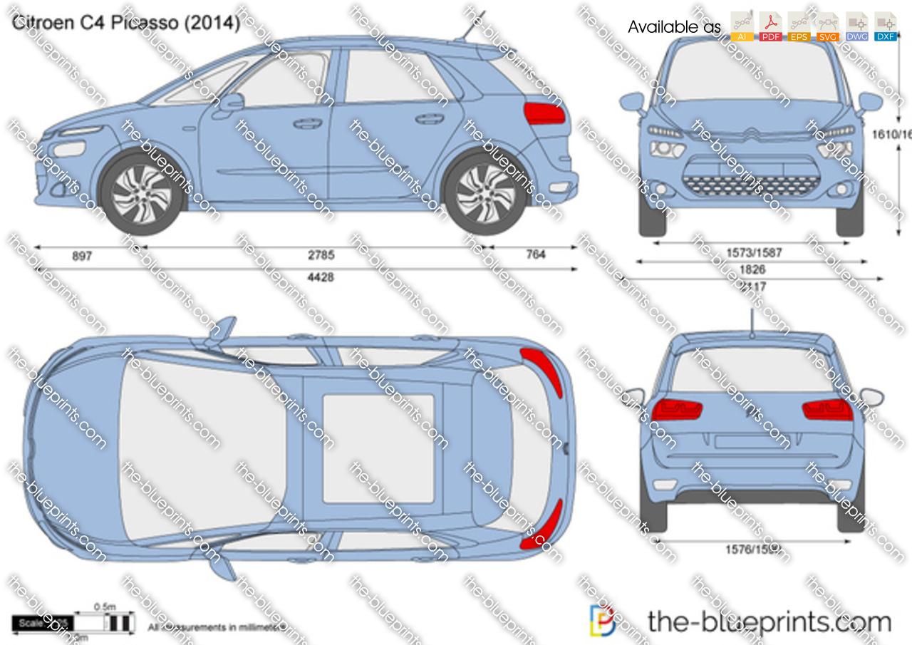 The Blueprints Com Vector Drawing Citroen C4 Picasso
