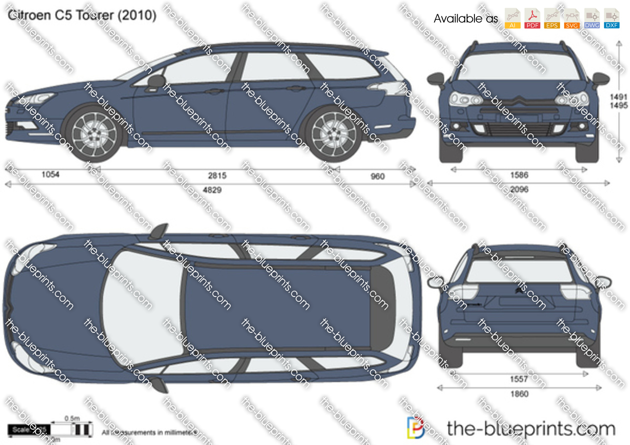 citroen c5 tourer vector drawing. Black Bedroom Furniture Sets. Home Design Ideas