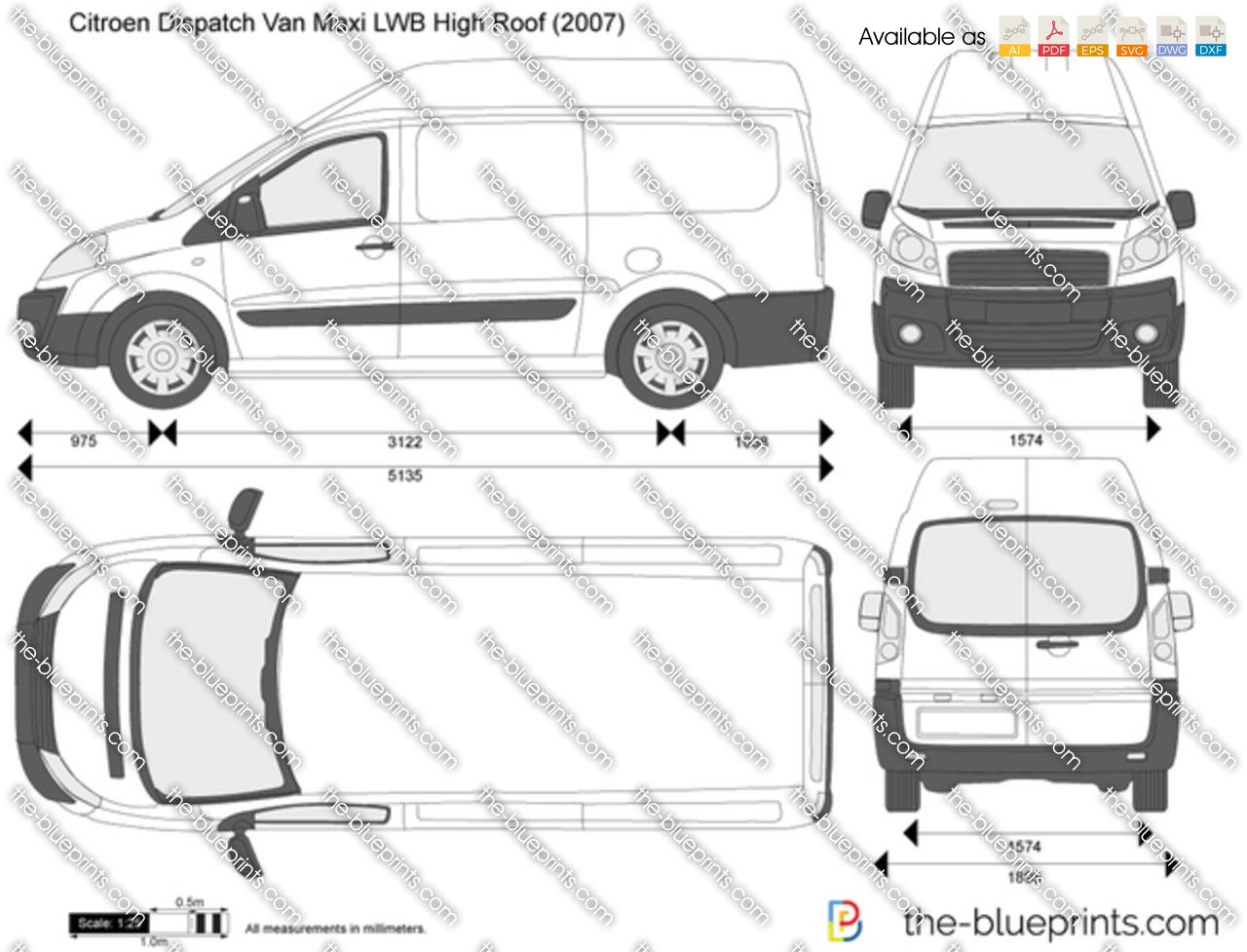 Citroen Dispatch Van Maxi LWB High Roof