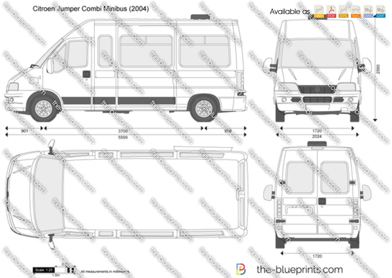 citroen jumper combi minibus vector drawing. Black Bedroom Furniture Sets. Home Design Ideas