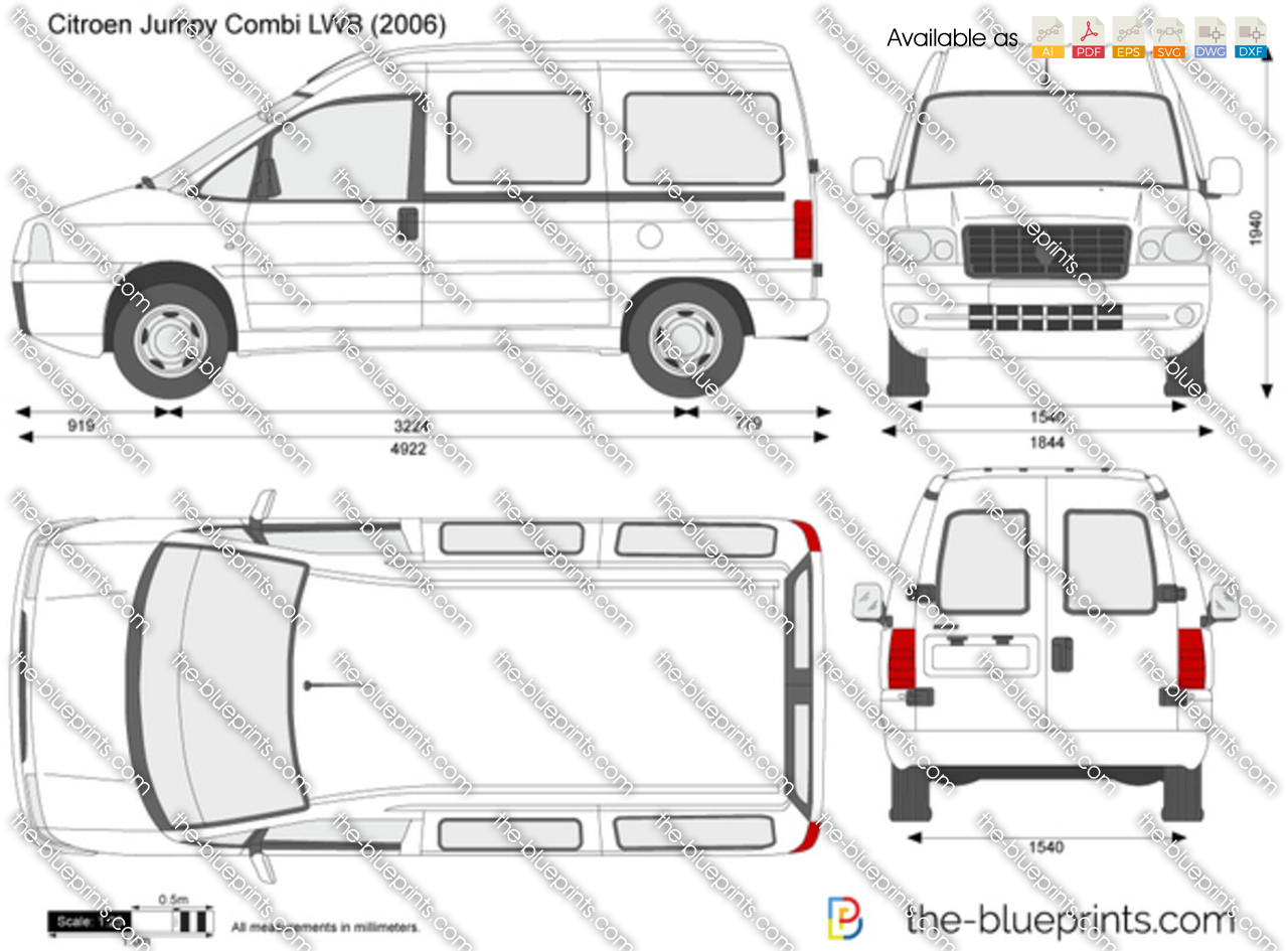 citroen jumpy combi lwb vector drawing. Black Bedroom Furniture Sets. Home Design Ideas