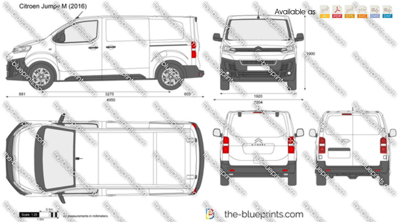 citroen jumpy m vector drawing. Black Bedroom Furniture Sets. Home Design Ideas