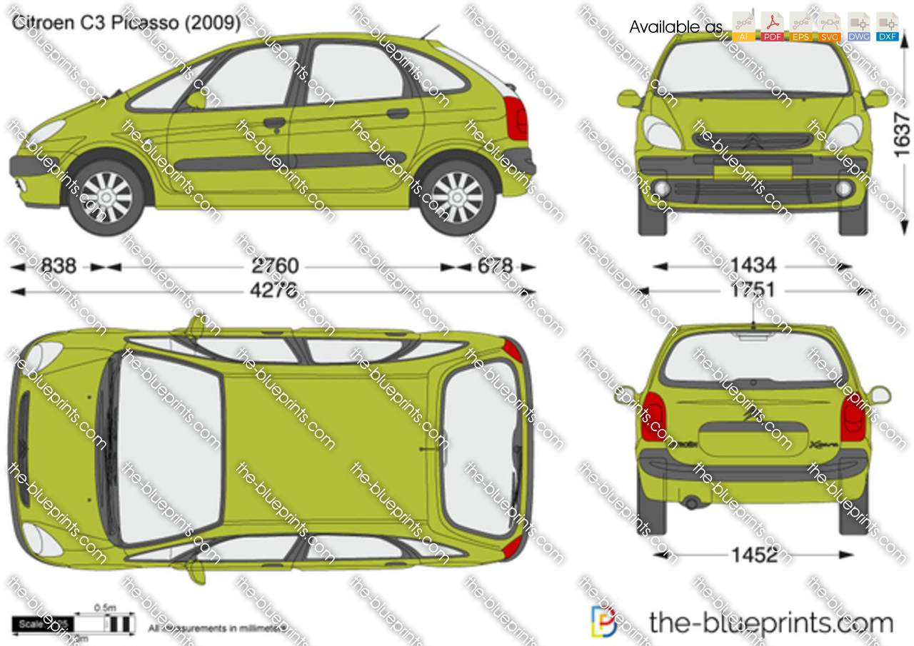citroen picasso vector drawing. Black Bedroom Furniture Sets. Home Design Ideas