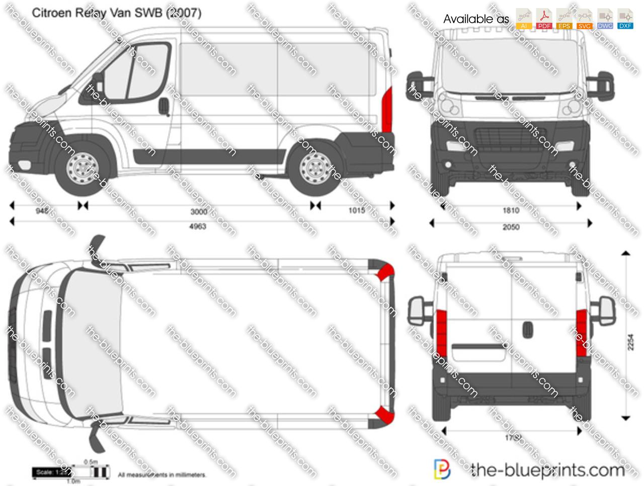 Online Blueprints The Blueprints Com Vector Drawing Citroen Relay Van Swb
