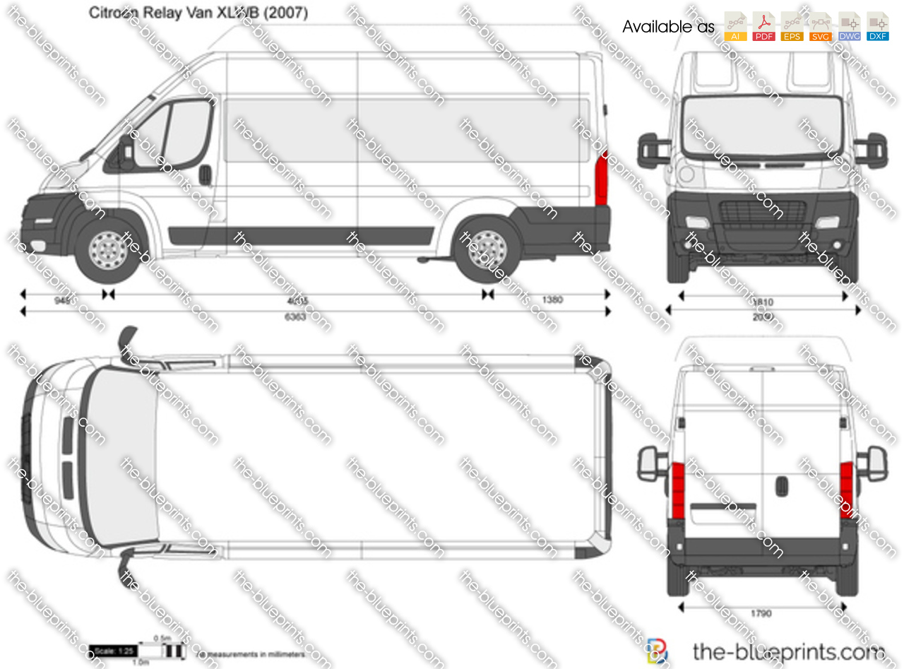the vector drawing citroen relay van xlwb. Black Bedroom Furniture Sets. Home Design Ideas
