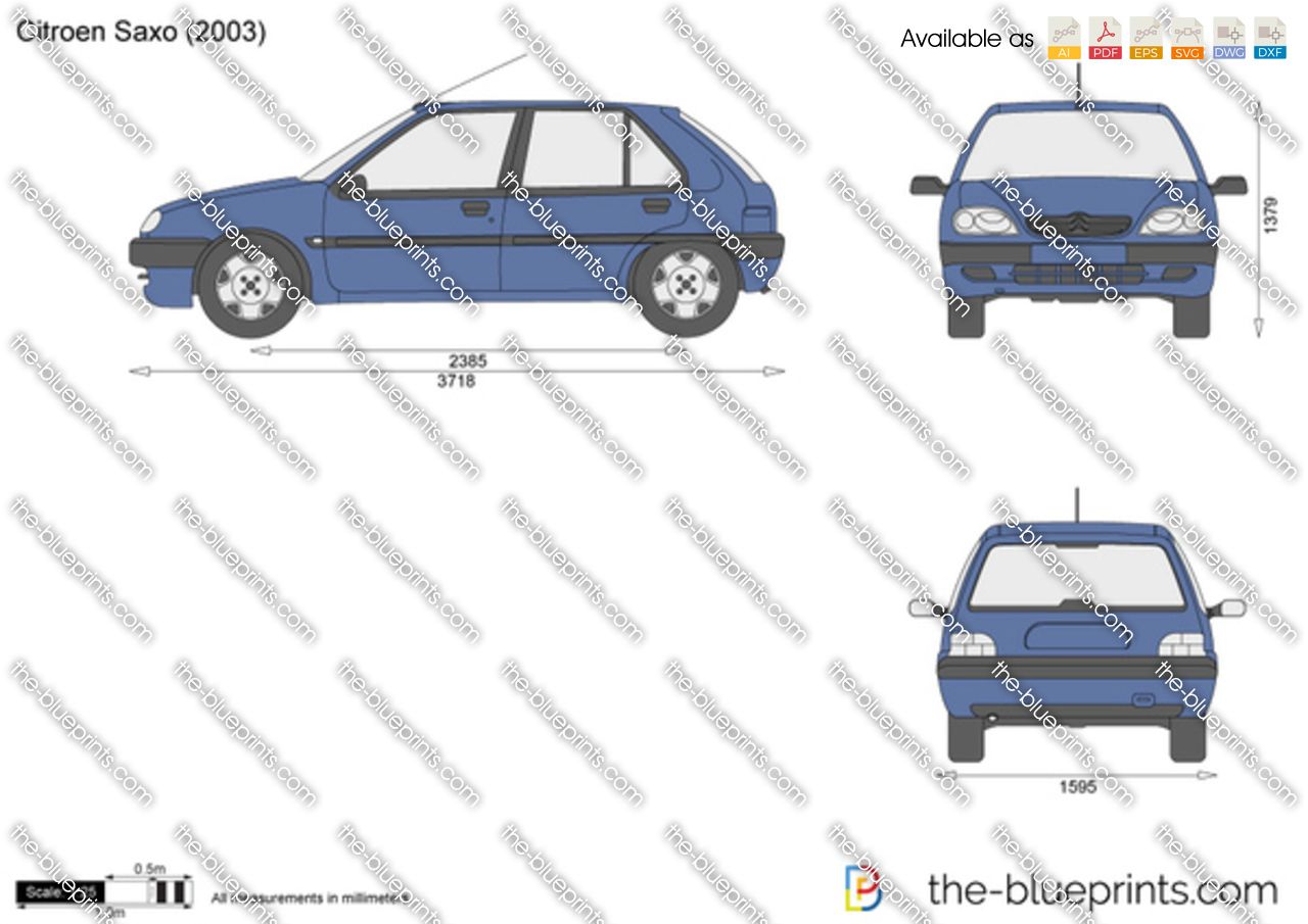 the vector drawing citroen saxo. Black Bedroom Furniture Sets. Home Design Ideas