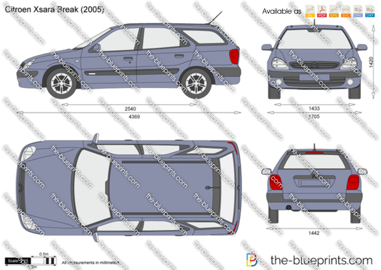 the vector drawing citroen xsara break. Black Bedroom Furniture Sets. Home Design Ideas