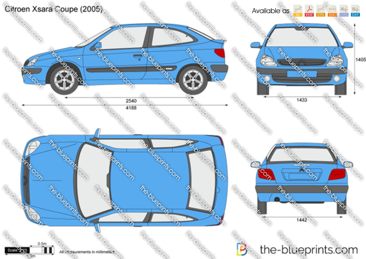 the vector drawing citroen xsara coupe. Black Bedroom Furniture Sets. Home Design Ideas