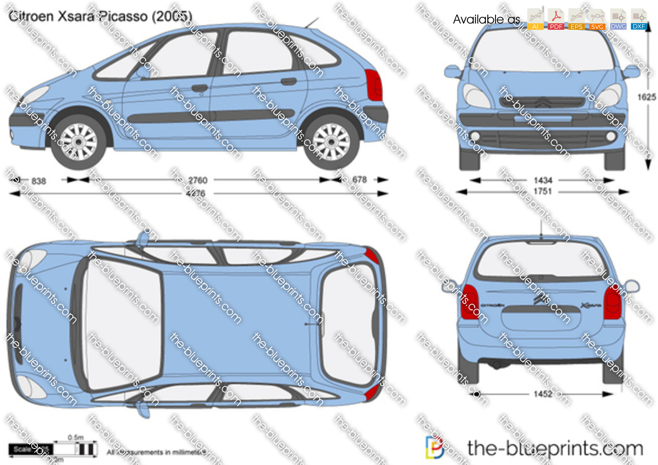 Citroen Xsara Picasso Vector Drawing